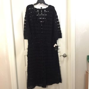 Gaby and Eden hand crocheted 3/4 length over dress